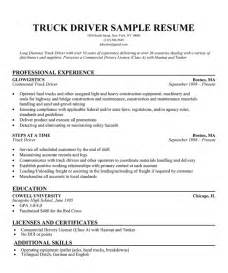 Builder Resume Sle by Transport Driver Resume Sle