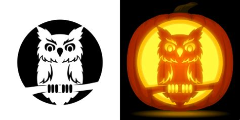 owl pumpkin carving patterns printable owl pumpkin carving stencil free pdf pattern to download
