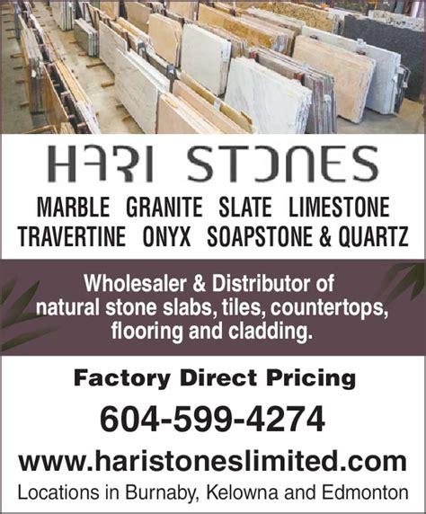 hari stones ltd opening hours 7950 venture st burnaby bc