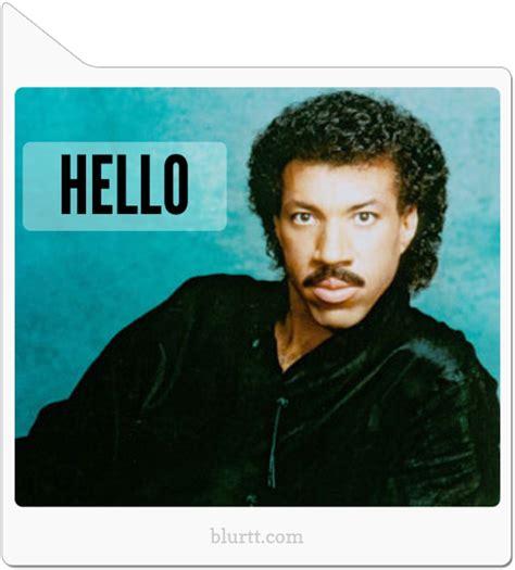 Lionel Richie Hello Meme - image gallery lionel richie meme