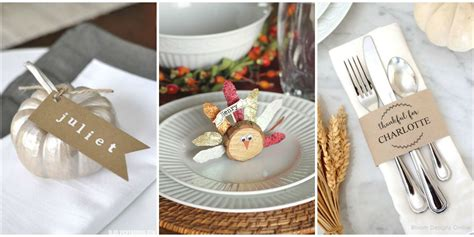 thanksgiving table name cards 10 diy thanksgiving place cards craft ideas for fall
