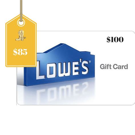 100 lowe s gift card only 85 - Lowes Gift Card Deals