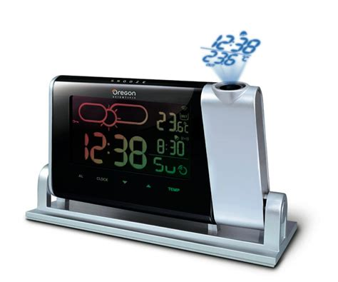 alarm clocks time projection weather indicator