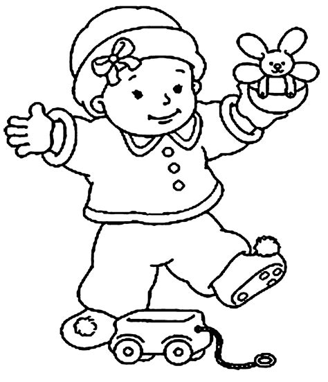 baby coloring pages for download
