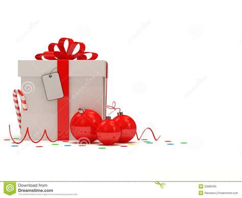 Superb Christmas Card Ornament Ball #7: Christmas-gift-box-white-background-22680455.jpg
