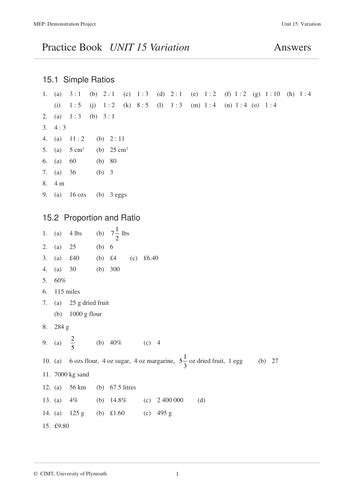 inverse variation worksheet with answers pdf variation mep gcse lesson worksheet by cimt teaching resources tes