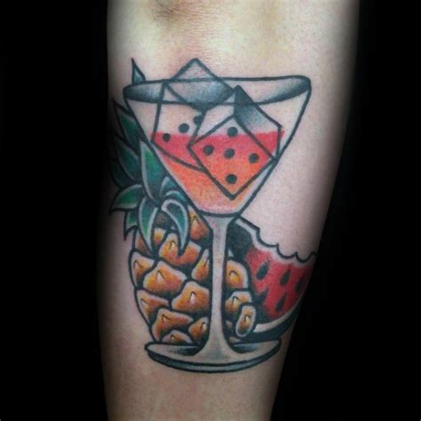 martini tattoo 30 watermelon designs for fruit ink ideas