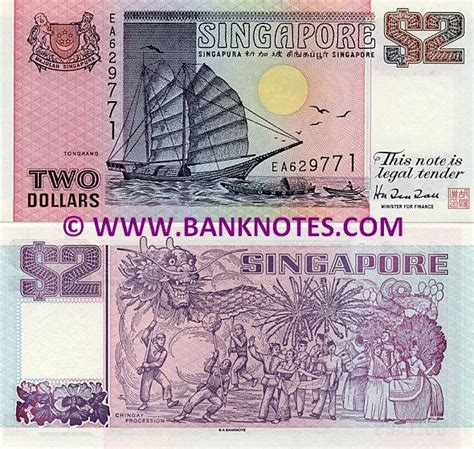 change new notes for new year singapore singapore 2 dollars 1991 1998 singaporean currency