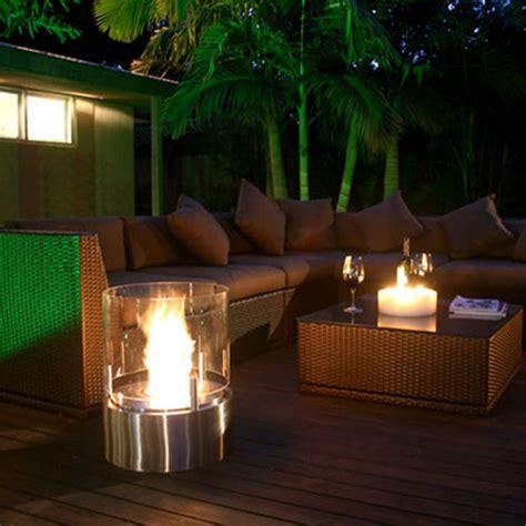 ecosmart cyl modern ventless outdoor fireplace