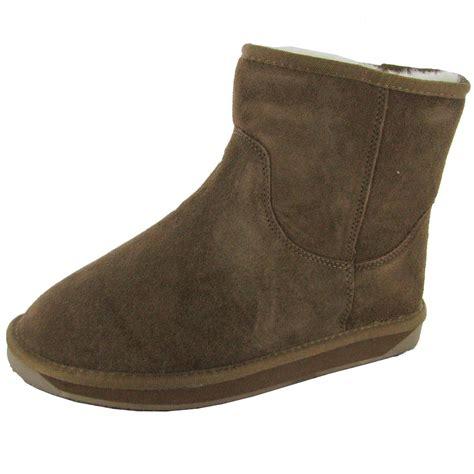 suede boots womens booroo womens minnie waterproof suede snow boot ebay