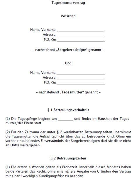 Rechnung Gesetz Schweiz Tagesmuttervertrag Muster Vom Anwalt Zum