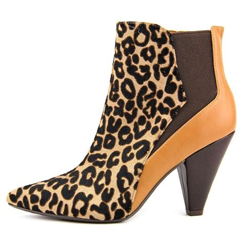 J Renee Tiaga Ankle Boot In Spots And Stripes by J Renee J Renee Cally Faux Leather Brown Ankle