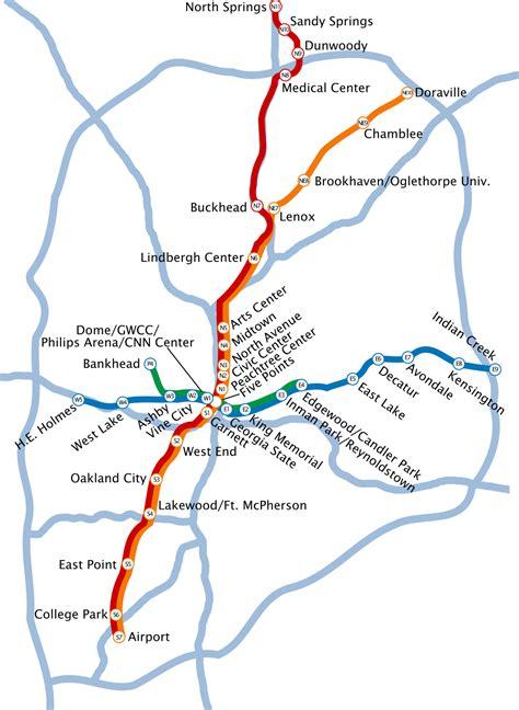 marta atlanta map marta atlanta metro map united states