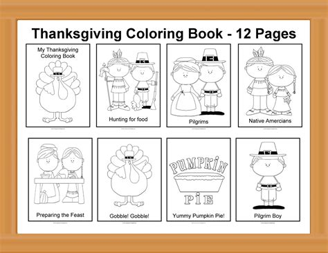 printable turkey mini books printable thanksgiving coloring book festival collections