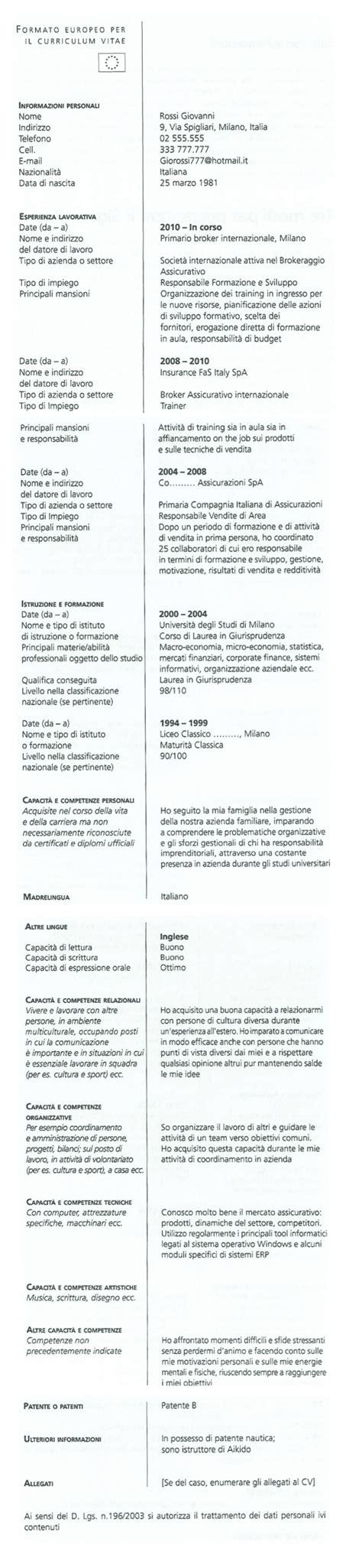 Formato Europeo Curriculum Vitae Esempio Curriculum Vitae I 3 Modelli Efficaci Da Utilizzare Subito