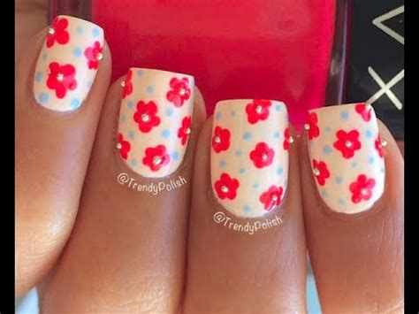Easy Nail Art With Toothpick   easy flower nail art using toothpick only youtube