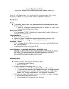 capstone outline template capstone research paper outline