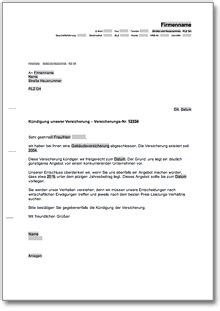 Vorlage K Ndigung Versicherung Doc Dehoga Shop Office Unternehmen Kaufen Seite 2