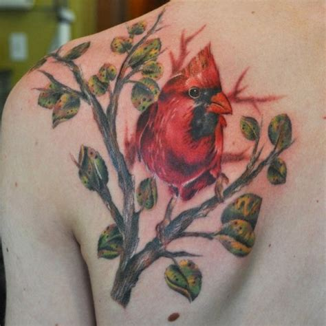 red cardinal tattoo cardinal designs tattoos of the cardinal