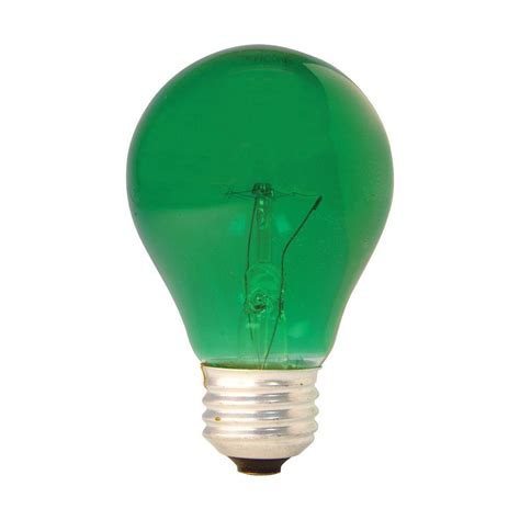 ge 25 watt incandescent a19 green light bulb 25a tg pq1 6