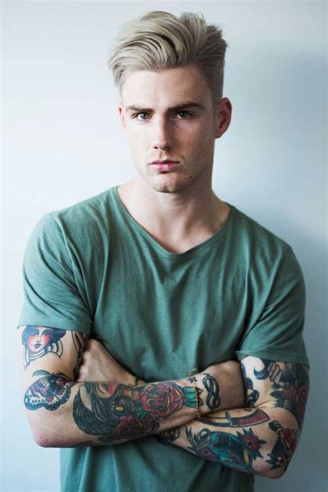 tattooed blonde 15 hairstyles for guys mens hairstyles 2018