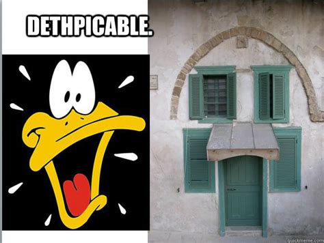Daffy Duck Meme - dethpicable daffy duck house quickmeme