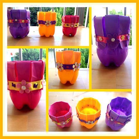 Flower Pots With Faces On Them macetas macetero o tiesto de botellas de plastico