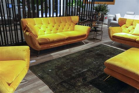 yellow velvet sofa comfort in cologne sensational sofa and seating trends