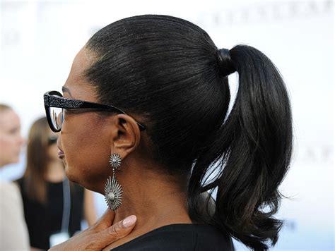 We're Loving Oprah Winfrey's Wrapped Ponytail!
