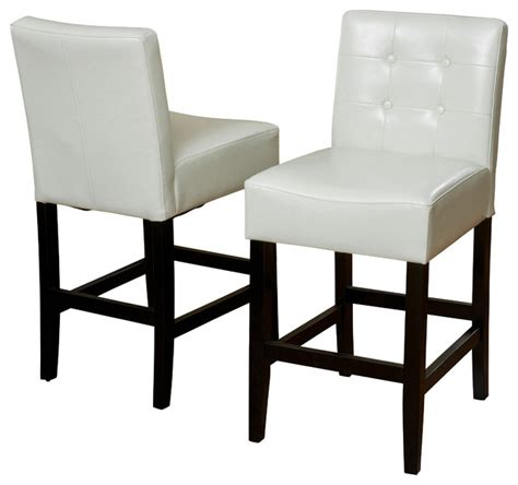 Ivory Counter Height Stools by Gregory Ivory Leather Back Stool Set Of 2 Ivory Counter