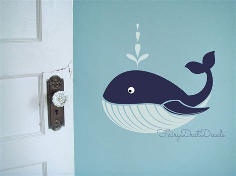 whale wall stickers whale wall decal fish wall decor whale vinyl