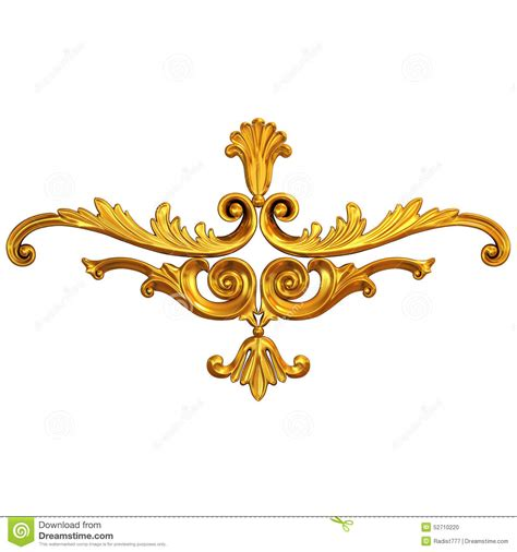 gold ornaments gold ornament stock photo image 52710220