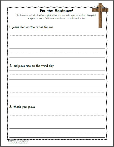 printable christian easter activity sheets christian easter worksheets for kindergarten and first