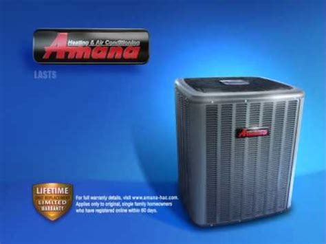 amana air conditioner cooling lifetime replacement