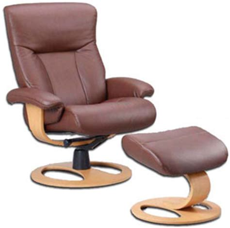 Scandinavian Recliner Chairs by Fjords Scandic Ergonomic Leather Recliner Chair Ottoman
