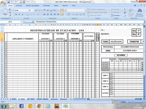 descargar registro auxiliar secundaria gratis educallao modelo de registro de notas trimestral 2014