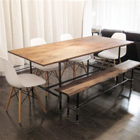 the ziggy dining table made from recycled barn wood and