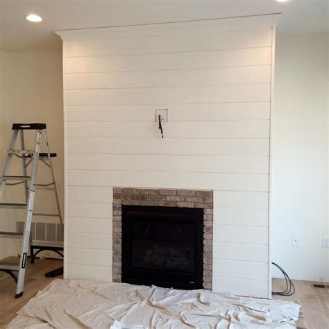 shiplap fireplace diy shiplap fireplace wall tamarack