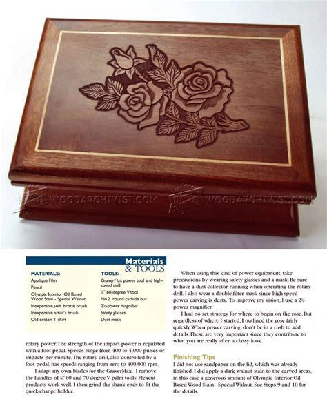 carved jewelry box lid woodarchivist