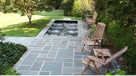 Backyard Stone Patio Ideas Geometric