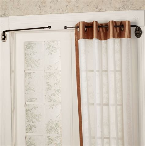 curtain rod shop curtain swing rods shop style selections 20 in to 36 in