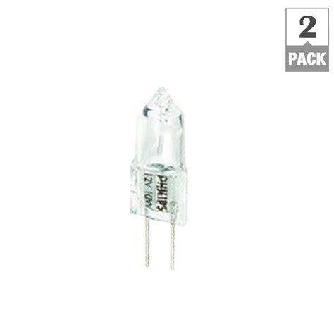 Philips Landscape Light Bulbs Philips 10 Watt 12 Volt Halogen T3 Landscape Light Bulb 2 Pack 417212 The Home Depot