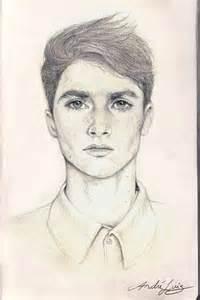 lunatic portrait practice pencil on sketchbook via