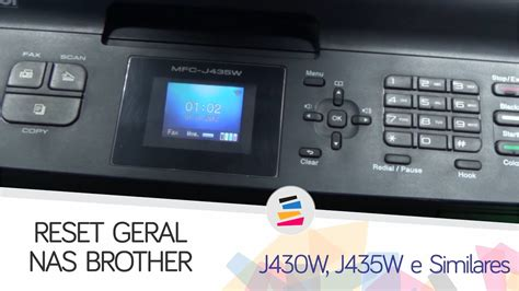 cara reset brother j430w tutorial reset geral erro 46 absorvente cheio brother