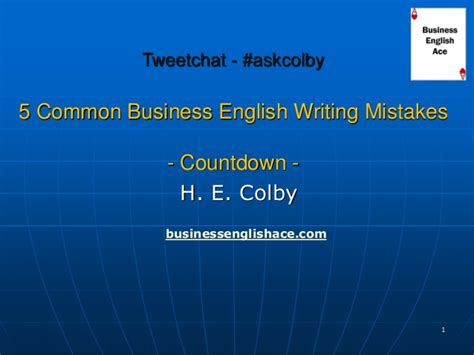 Common Business Letter Writing Mistakes 5 common business writing mistakes