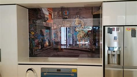 kitchen glass backsplash with digital printing made of printed glass kitchen splashbacks for your kitchen or