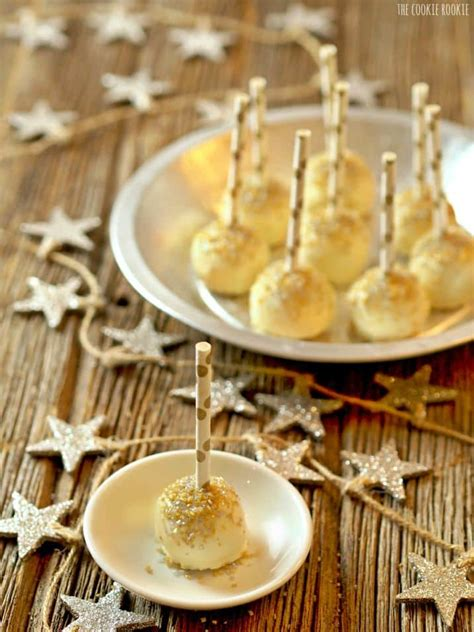 new year cake easy gold glitter cake pops lemon cake pops the cookie rookie 174