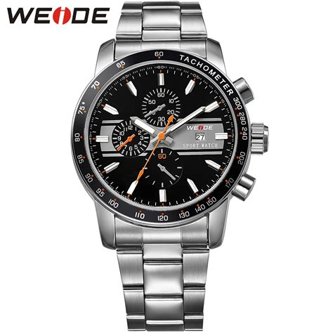 Weide Japan Quartz Silicone Putih Silver Stainless Steel buy sinobi s9606g 4125 fashion trend personality casual