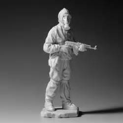 figure casts russian nbc soldier w ak 47 base resin cast figures