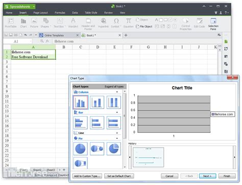 Linux Spreadsheet by Alternative For Microsoft Office For Linux Software